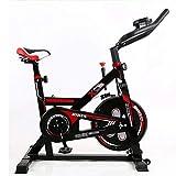 YOT Spin Bike Cyclette Coperta Ultra Silenzioso Cinghia di Trasmissione Cardio Workout Macchina Upright Bike Home Gym 385 Lbs Peso Massimo (Color : Black)