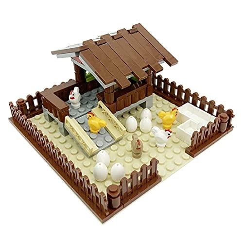 QIXIAOCYB Tierfarm Bausteine Kit, Spielzeug lernen mit Welpen, kompatibel mit Legoblöcke (Color : As Shown, Size : 60+Pcs)