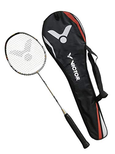 VICTOR Badmintonschläger Ti 8 Power Deluxe 100% Carbon (Engineered in Germany)