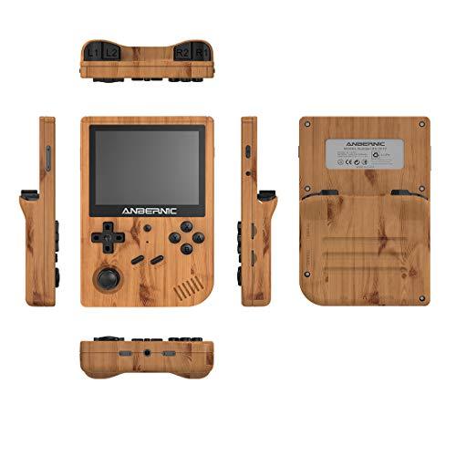Playjoy RG351V Anbernic Handheld Spielkonsole, Retro Spielkonsole mit 128G TF Card 10000 Spielen, 3,5 Zoll IPS Portable Spielkonsole mit WiFi Handkonsolen - Holzfarbe 1