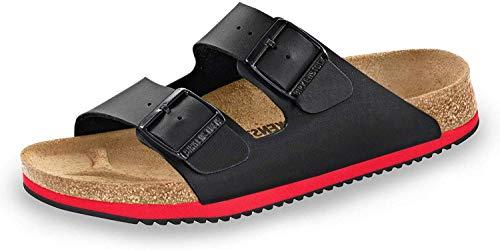BIRKENSTOCK 230114-45-normales Fußsbett Superlauf-Schuh Arizona Birko-Flor red/Black Gr. 45 - normales Fußbett