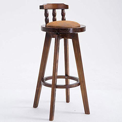 Massief houten barkruk Relax stoel Molle draaistoel ontbijt voor Home Kitchen Bar Cafe J1127