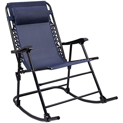 Furniwell Patio Rocking Zero Gravity Chair Outdoor Wide Recliner Portable Lounge Chair Folding with...