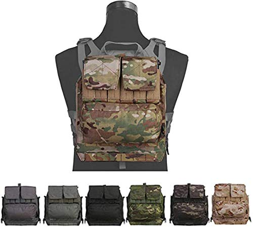 Tactical Molle Backpack Panel by Zip for Plate Carrier Vest AVS JPC2.0 CPC (Coyote Brown)