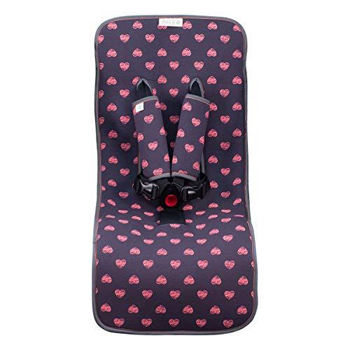 JANABEBE housse universal couverture pour poussette (Fluor Heart)