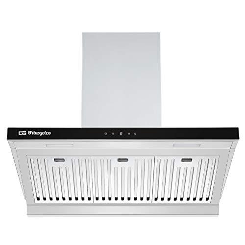 Orbegozo DS 63190 IN afzuigkap, 90 cm, klasse A, uitneembare professionele filter, extractie 636,2 m3/h, LED-verlichting, 3 standen