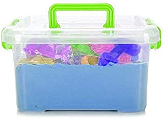 Magical Play Sand Toy Set with Accessories- Blue