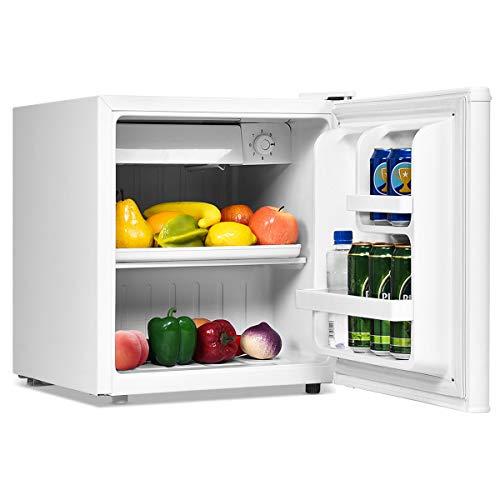 GOPLUS 48L Minikühlschrank Hotelkühlschrank Standardkühlschrank Getränkekühlschrank mit regelbarer Thermostat, Farbwahl 49 x 46 x 44 cm (Weiß)
