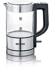 SEVERIN WK 3472 Mini-glazen waterkoker, hoogwaardig en comfortabel, 0,5 liter, 1.100 watt, 100% BPA-vrij