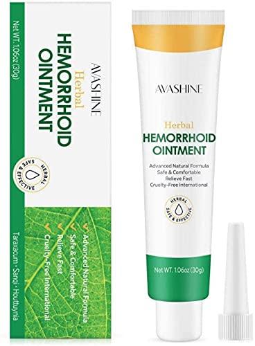 Pomada para hemorroides, crema para hemorroides, gel contra hemorroides y fisuras, remedio natural con hierbas chinas, para el tratamiento de hemorroides