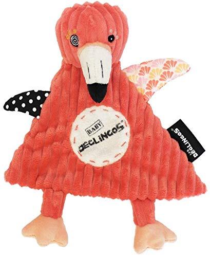 LES DÉGLINGOS Doudou Baby (Flamingos le Flamant) - Peluche Bébé Enfant - Tissu Ultra Doux - Cadeau Fille Maternelle - Convient Dès la Naissance - 25 cm - Rose