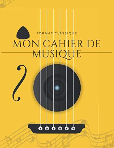 Cahier de musique:carnet de partitions-papier manuscrit: 100 pages-Grand Format-Couverture moderne 12 Octobre 2020