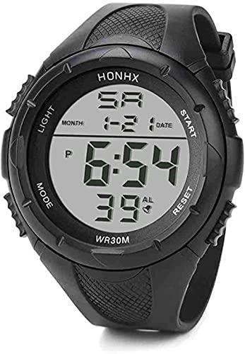 JZDH Mano Reloj Reloj de Pulsera Hombres LED Digital Alarma Deporte Reloj de Silicona Ejército Militar Cuarzo Reloj de Pulsera Moda Camping Buceo Reloj Masculino Relojes Decorativos Casuales