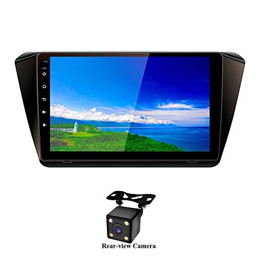 XISEDO Autoradio Android 7.1 RAM:2GB ROM:32GB in-Dash Navigation de Voiture 9 Pouces Écran Tactile Car Radio Système de Navigation GPS pour Superb 2015-2016 (avec Caméra de Recul)