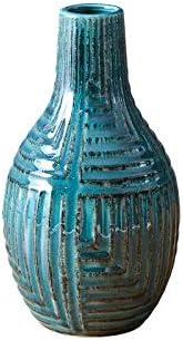 Blue Regular dealer Ceramic Pottery Vase Floreros Shipping included for Flowers Centerpieces Mode