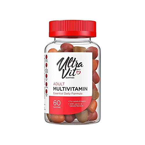 UltraVit Adult Multivitamin Gummies | Essential Daily Formula | Orange, Cherry and Strawberry Flavour | 60 Gummies