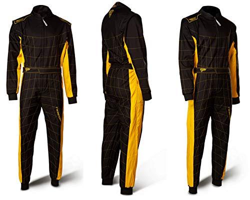 Speed Barcelona RS-2 - Mono de carreras (nivel 2, aprobado por la FIA), color negro y amarillo
