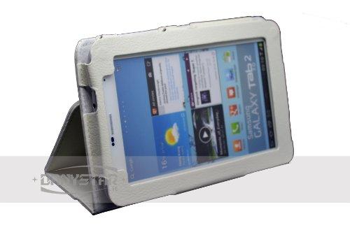 Custodia Cover per Samsung Galaxy Tab 2 7.0 P3100 / P3110 e Samsung Galaxy Tab Plus 7.0 P6200/P6210 (Bianco) - Accessori per Tablet Danystar