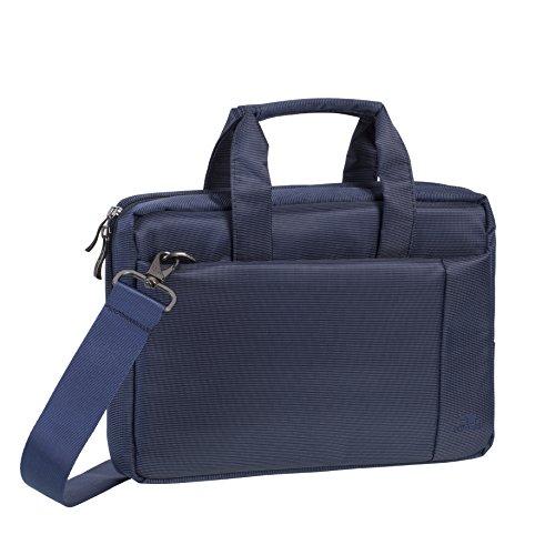 """RIVACASE Notebooktasche bis 13.3"""" – Moderne Tasche mit Zusatzfächern & extra verstärkten Seitenwänden – Blau"""