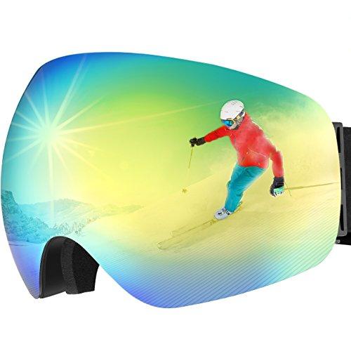 OMORC Gafas Snowboard, Gafas Esquí con Anti-Niebla Lente de Dual Capa,...