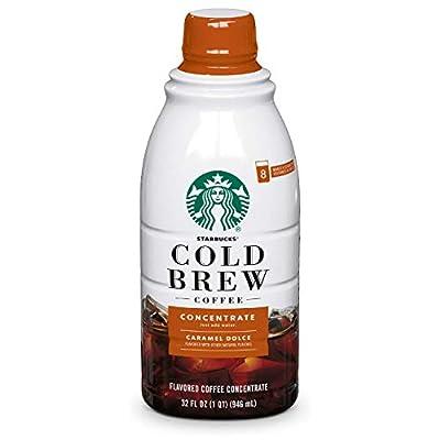 Starbucks Cold Brew Concentrate, Caramel Dolce, 32 FL OZ
