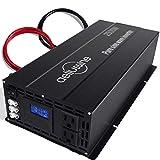aeliussine 2500w Inverter Pure Sine Wave Power Inverter 24v dc to ac 110v 120v with 2 US Socket Hardwire Terminal, LCD Display for...