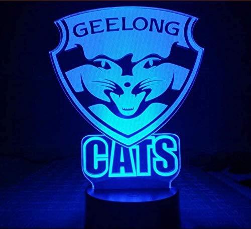 AFL Geelong Football Club Led Nachtlicht 7 Farbwechsel Kind Kinder Baby Nachtlicht Australian Rules Football Team Tischlampe