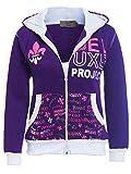 SS7 Chicas Chándal Jersey 2 Piezas Loungewear, Edad 7 a 13 años Púrpura, Negro (Años 9/10, Púrpura)