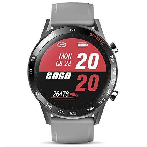 Wsaman IP68 Impermeable Monitor de Fitness Reloj Smartwatch, Reloj Inteligente Deportivo Fitness Tracker Pantalla Táctil con Sueño Podómetro Monitor de Actividad para Hombre Mujer,Gris