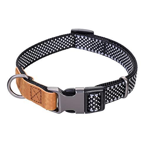 Mile High Life | reflektierendes Nylon-Hundehalsband | kleines Hundehalsband | mittelgroßes Hundehalsband | großes Hundehalsband | Leder Hundehalsband, Small Neck 11