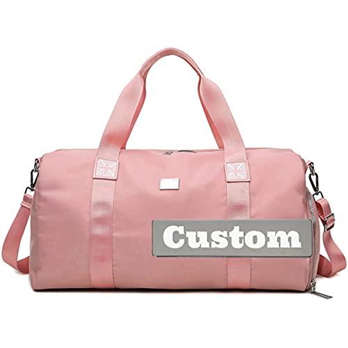 Nome personalizzato Grande Duffel per adolescenti Borsellino imballabile Pieghevole Pieghevole Pieghevole Impermeabile (Color : Rosa, Taglia : One size)