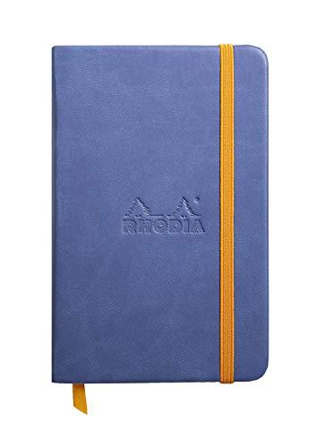 Rhodia 118648C Rhodiarama Book (A6 Notizbuch mit Gummizug, liniert, 96 Blatt) 1 Stück saphirblau
