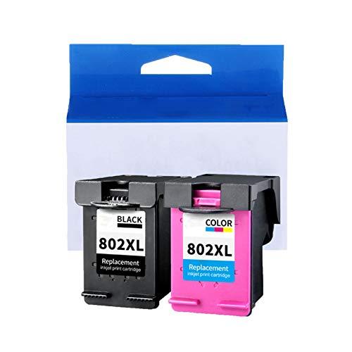 JZMY Cartuchos de tinta para HP Deskjet1050 1000 1010 1011 1101 1102 1510 2050 Model 802XL, servicio de alta definición, dos juegos