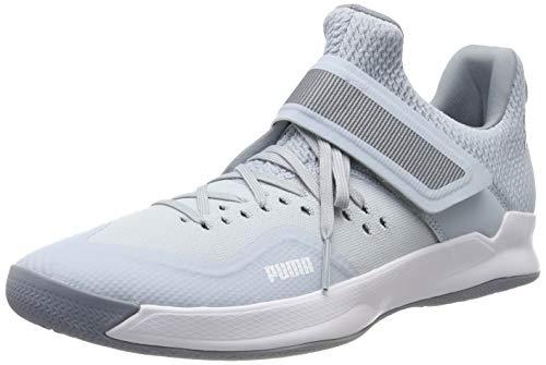 Puma Unisex-Erwachsene Rise XT Netfit 2 Futsalschuhe, Grau Grey Dawn Heather White Tradewinds, 43 EU