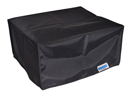 Comp Bind Technology Printer Dust Cover for Epson Workforce ET-3750 Eco Tank All-in-One Printer, Black Nylon Anti-Static Dust Cover Size 14.8''W x 13.7''D x 9.1''H''