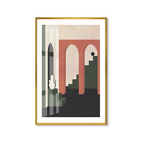 Baodanla No Frame nieuwe sfeer geometrisch olieverfschilderij, minimalistisch, modern