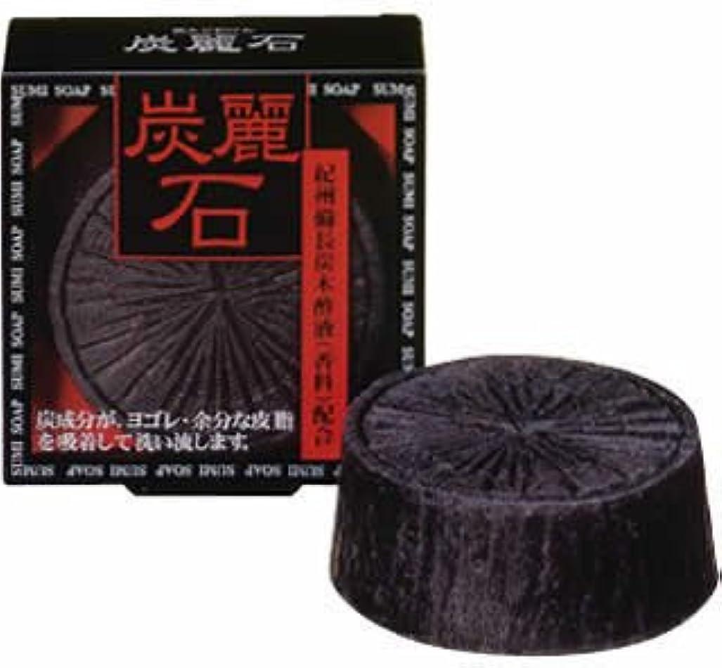 扱いやすい苦行だます炭麗石 炭入り洗顔石鹸 128g