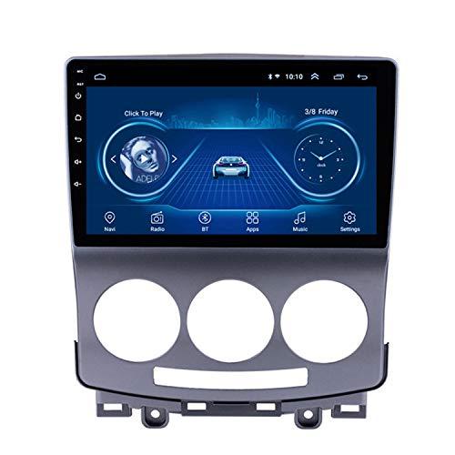 CARACHOME Lecteur DVD autoradio Android 10 pour Mazda 5 2005-2010, Prise en Charge de la Navigation GPS Audio vidéo Commande au Volant Bluetooth Mains Libres,WiFi 1+16g