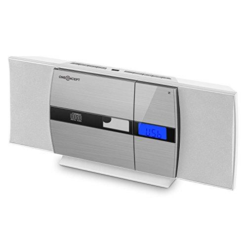 OneConcept V-15 - Chaîne stéréo, Lecteur CD, MP3, Clapet motorisé, Port USB, Tuner Radio FM, 20...