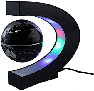 Scienish C Shape LED World Map Floating Globe Tellurion Magnetic Levitation Light Antigravity magic/novel light