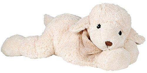 Lashuma Kuscheltier Schäfchen Lazy Lefty, Designer Plüschtier Schaf Weiß, Weiches Premium Stofftier Lämmchen 25 cm