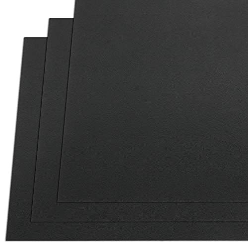 """KYDEX Thermoform Sheet - (P1 Texture) - (.060"""" Gauge) - (12in x 12in Sheet) - (Black) - (3 Pack) - (for Holster Making & Hobby)"""