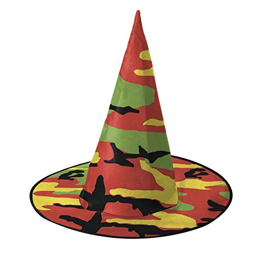 Great Deal! Halloween Witch Hats Accessory Costumes for Halloween Party Hat Hanging On The Tree Decorations Garden Party Decorwatercolor Camouflag