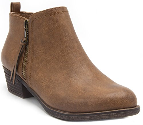 Rampage Women's Tarragon Ankle Bootie Brown