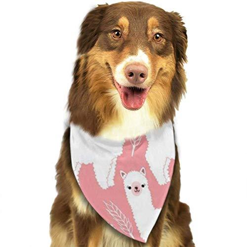 LREFON Baberos Triangulares Bufanda para el Cuello de Cachorro Alpaca Llama Pink Pet Bandanas Pañuelos para Perros pequeños y Grandes Gatos