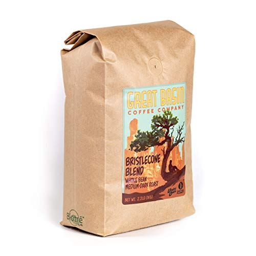 Great Basin Coffee Co. Bristlecone Blend Whole Bean Coffee - Gourmet Fresh Small Batch Medium Dark Roast Whole Coffee Beans, Ideal for French Press, Cold Brew and Pour Over Coffee - 2.2 kg (1 kg)