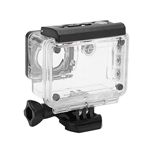 Eosnow Carcasa de cámara para Buceo, Carcasa de cámara Impermeable Hecha de plástico para PC Carcasa Impermeable de 30 m de Profundidad para cámara de acción SJ5000WIFI / Plus