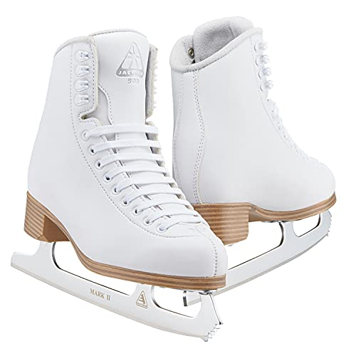 Jackson Ultima - Jackson Classic 500 Boot with Mark II Blade, Moderate Support Figure Skates for Women and Girls, Championship Quality Ice Skates, (Style No. JC501)