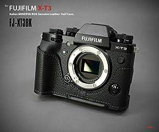 【日本正規販売店】 LIM'S Italian MINERVA Genuine Leather Half Case for FUJIFILM X-T3 FJ-XT3BK Black ブラック フジフイルム X-T3用 イタリアンレザー カメラケース メタルプレート 高級 本革 バッテリー交換可能 おしゃれ かっこいい リムズ