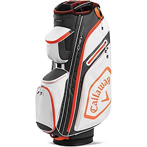 Callaway Chev 14+ 2020 Bolsa Carrito Golf Adultos unisex, BLANCO/GRIS/NARANJA, UNICA